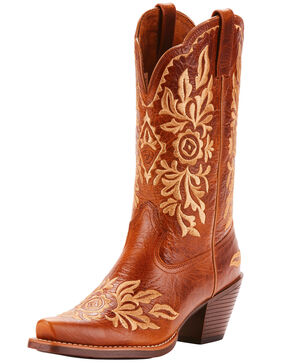 Ariat Women's Harper Full-Grain Leather Western Boots - Snip Toe, Brown, hi-res