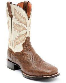 Dan Post Men's Bone Western Boots - Wide Square Toe, Chocolate, hi-res