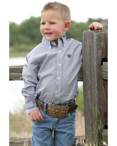 e6e366f71 Cinch Infant Boys Navy Geo Print Long Sleeve Western Shirt , Navy, hi-res