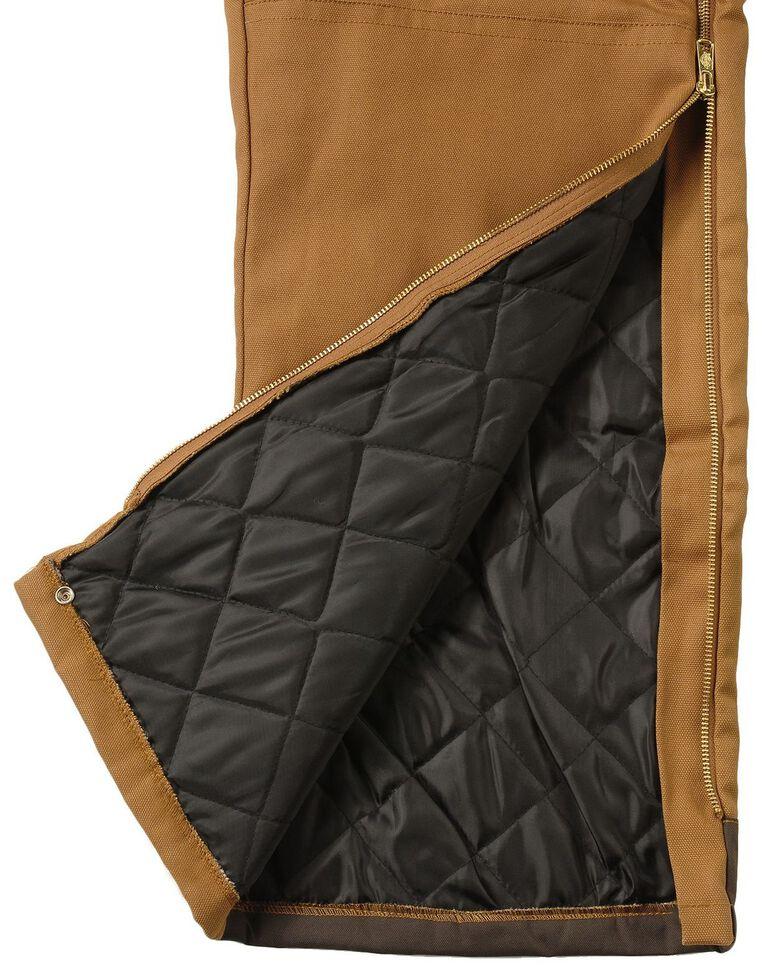 Dickies Men's Duck Insulated Bib Overalls, Brown Duck, hi-res
