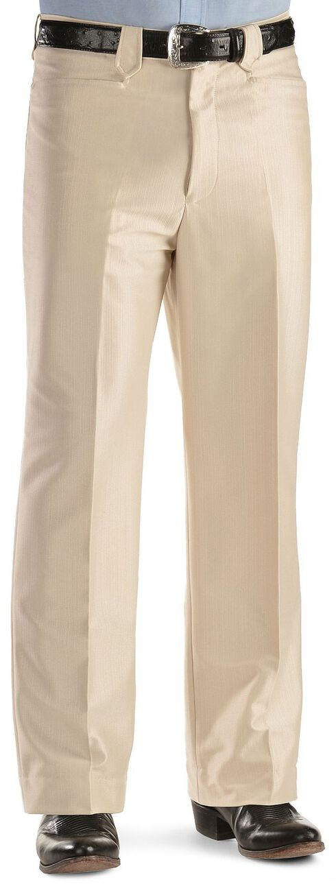 Domini Men's Western Dress Slacks, Bone, hi-res