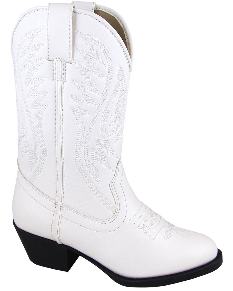 Smoky Mountain Girls' Mesquite II Western Boots - Round Toe, White, hi-res