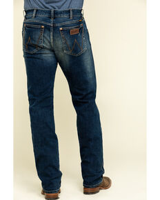 Wrangler Retro Premium Men's Monroe Stretch Slim Bootcut Jeans , Blue, hi-res