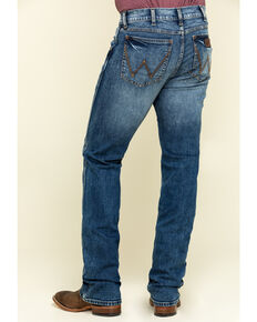 Wrangler Retro Men's Paris Stretch Slim Boot Jeans - Long , Blue, hi-res