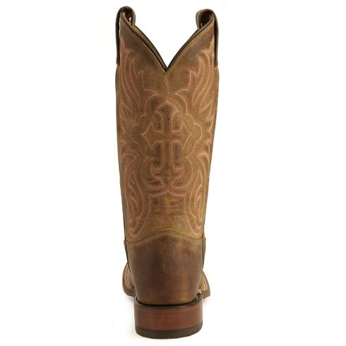 Tony Lama Cross Inlay Cowgirl Boots - Square Toe, Tan, hi-res