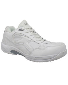 Ad Tec Men's Athletic White Uniform Work Shoes - Round Toe, White, hi-res