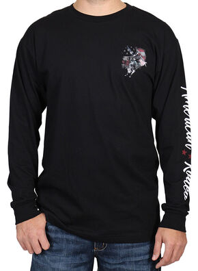 Cody James Men's American Rodeo Long Sleeve Shirt, Black, hi-res