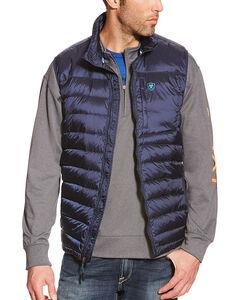 Ariat Men's Ideal Down Vest, Navy, hi-res