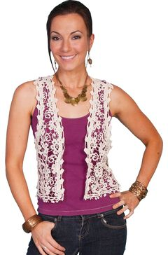 Scully Crocheted Vest, Natural, hi-res