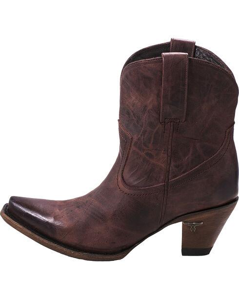 Lane Women's Julia Short Boots - Snip Toe , Wine, hi-res