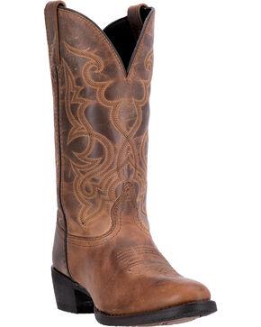 Laredo Women's Maddie Western Boots - Round Toe, Tan, hi-res