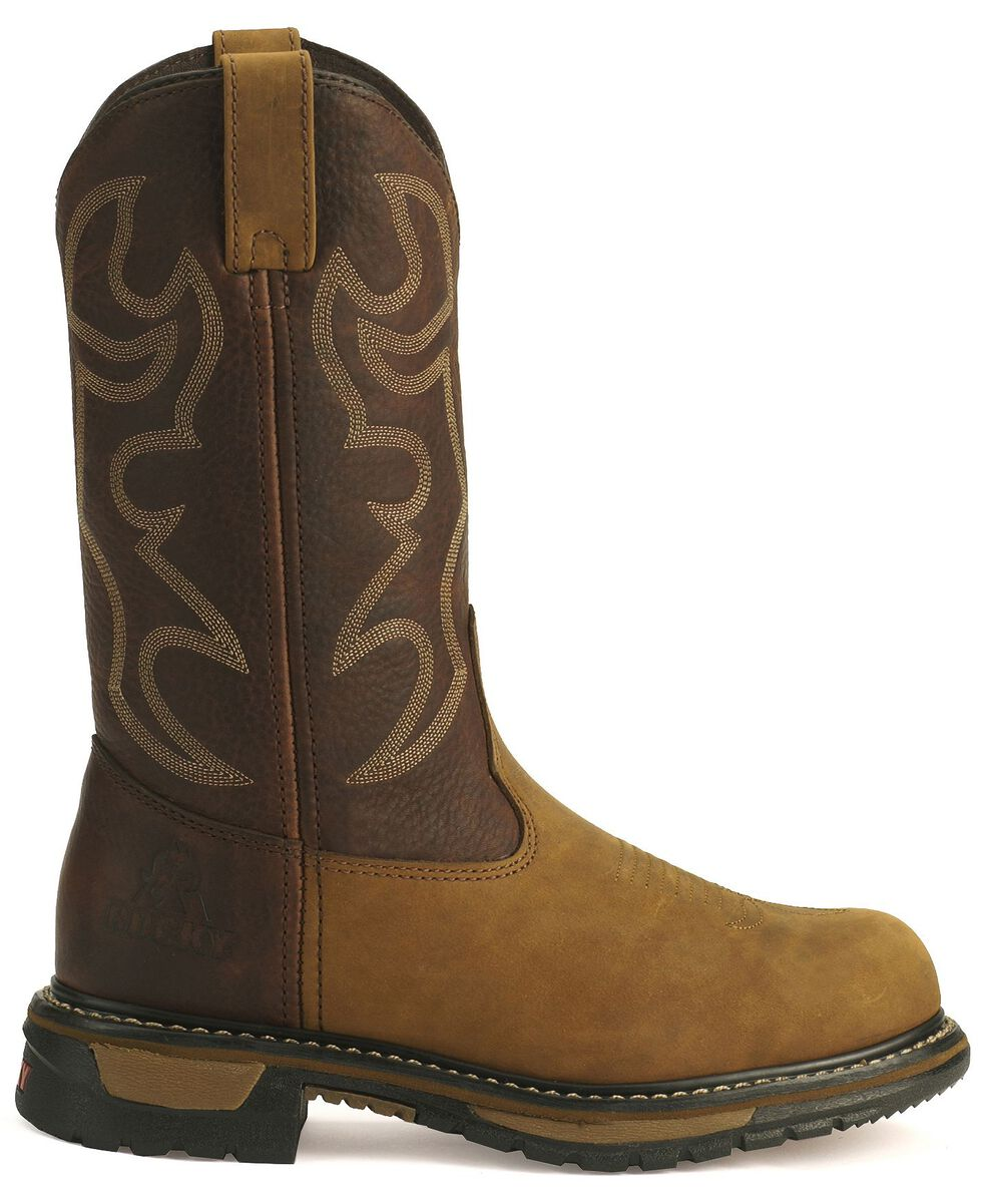 Rocky Men's Branson Roper Work Boots - Steel Toe, Brown, hi-res