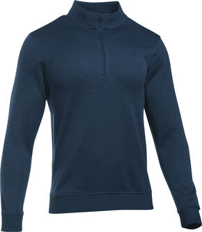 Under Armour Men's Navy Storm Sweater Fleece 1/4 Zip Pullover , Navy, hi-res