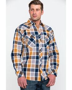 Resistol Men's Lake Clark Ombre Plaid Long Sleeve Western Shirt , Multi, hi-res