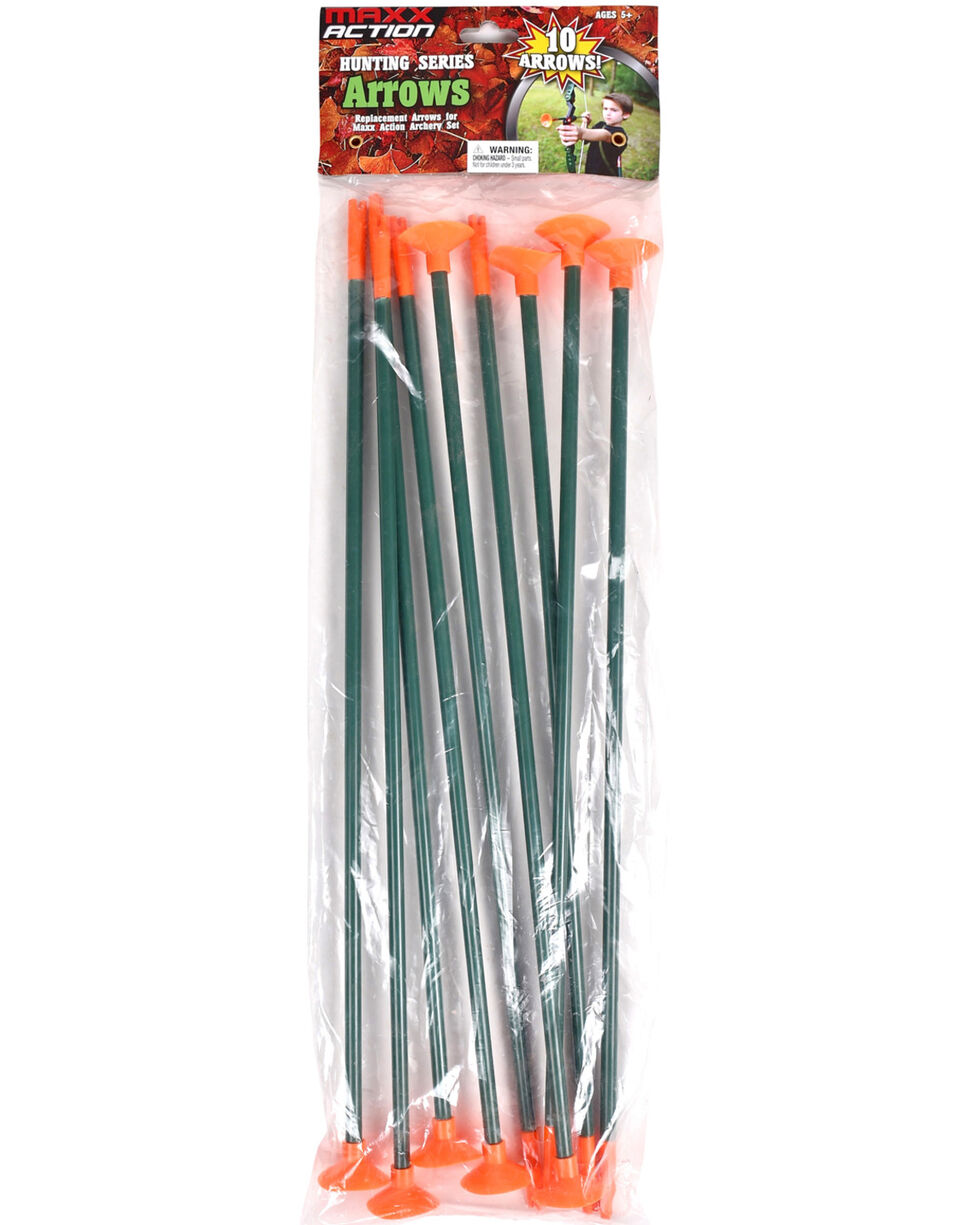 Maxx Action Hunting Series Arrows Refill 10 Pack, Green, hi-res