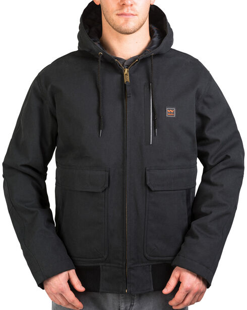 Walls Men's Blizzard-Pruf Insulated Hooded Jacket , Jet Black, hi-res