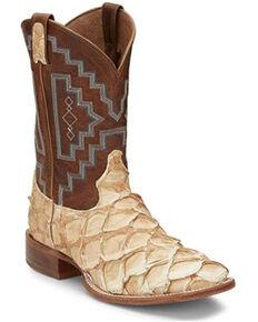 Tony Lama Men's Tiberius Western Boots - Round Toe, Cognac, hi-res