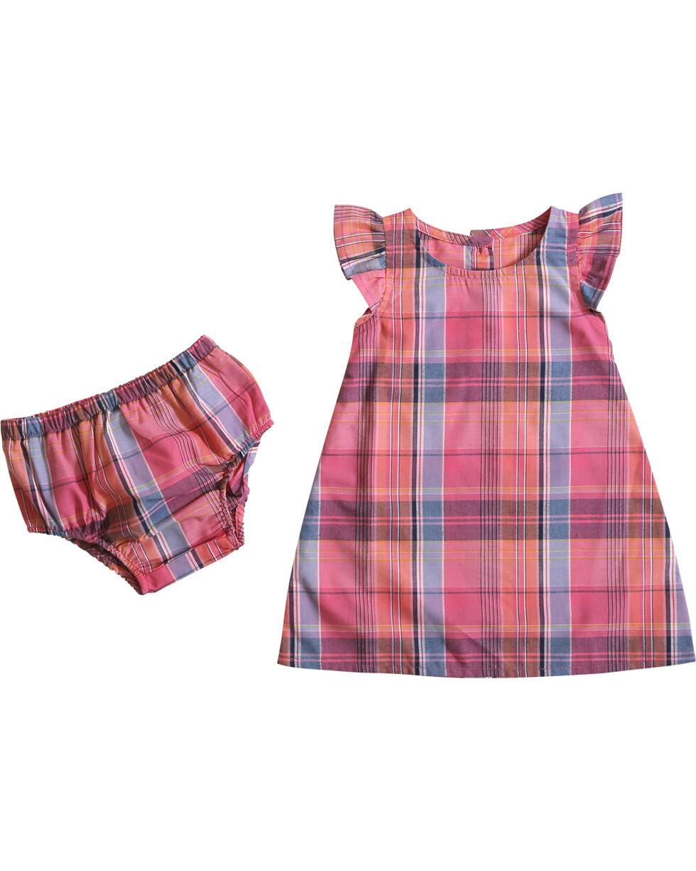 Wrangler Girls' (5,6) Plaid Bloomers and A-Line Dress , Pink, hi-res