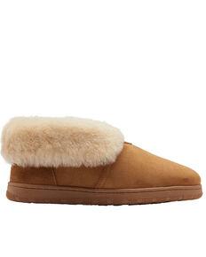 Lamo Footwear Men's Doubleface Slippers - Round Toe, Chestnut, hi-res
