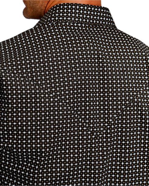 Stetson Men's Black Graphic Print Snap Western Shirt, Black, hi-res