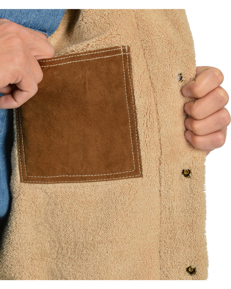 Scully Sherpa Lined Boar Suede Jacket, Brown, hi-res