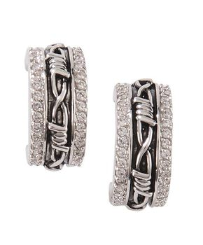 Montana Silversmiths Vintage Charm Cuff Earrings, Silver, hi-res