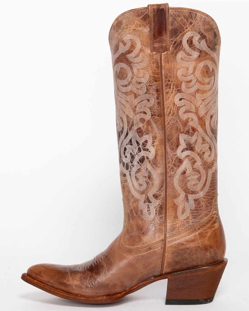 Shyanne Women's Tall Western Boots - Pointed Toe, Taupe, hi-res