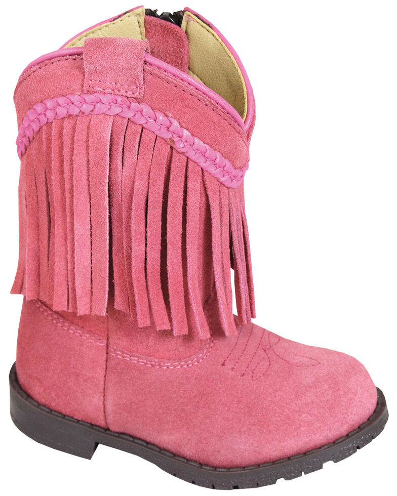 Smoky Mountain Toddler Girls' Hopalong Fringe Western Boots - Round Toe, Pink, hi-res