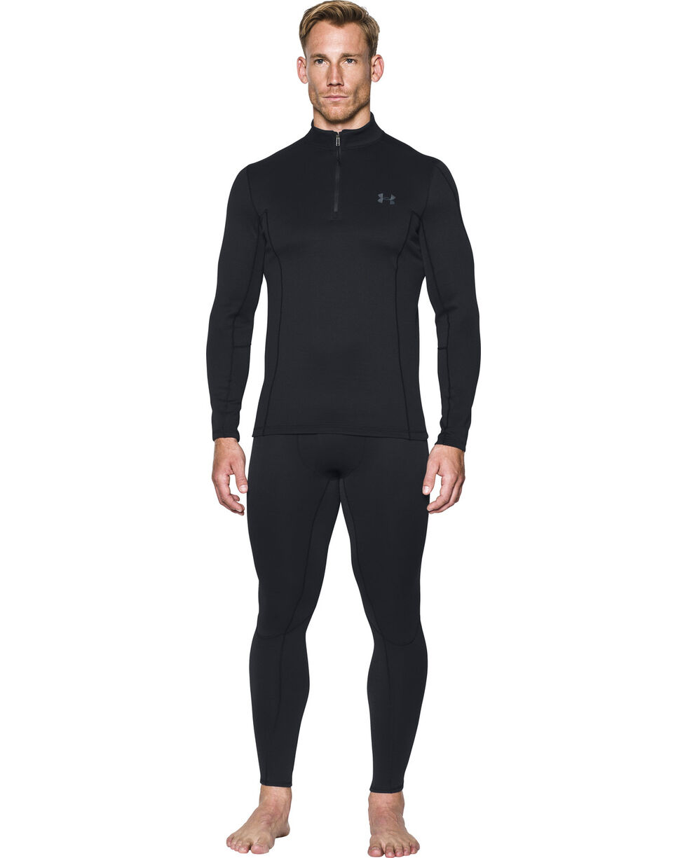 Under Armour Men's Black Extreme Base Leggings , Black, hi-res