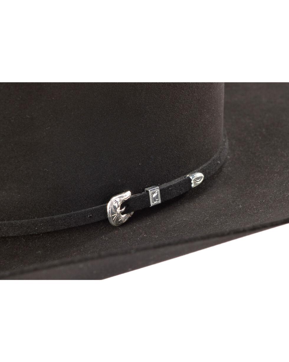 Rodeo King Men's 100X Black Felt Cowboy Hat, Black, hi-res