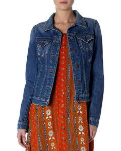 Miss Me Women's Classic Denim Jacket, Indigo, hi-res