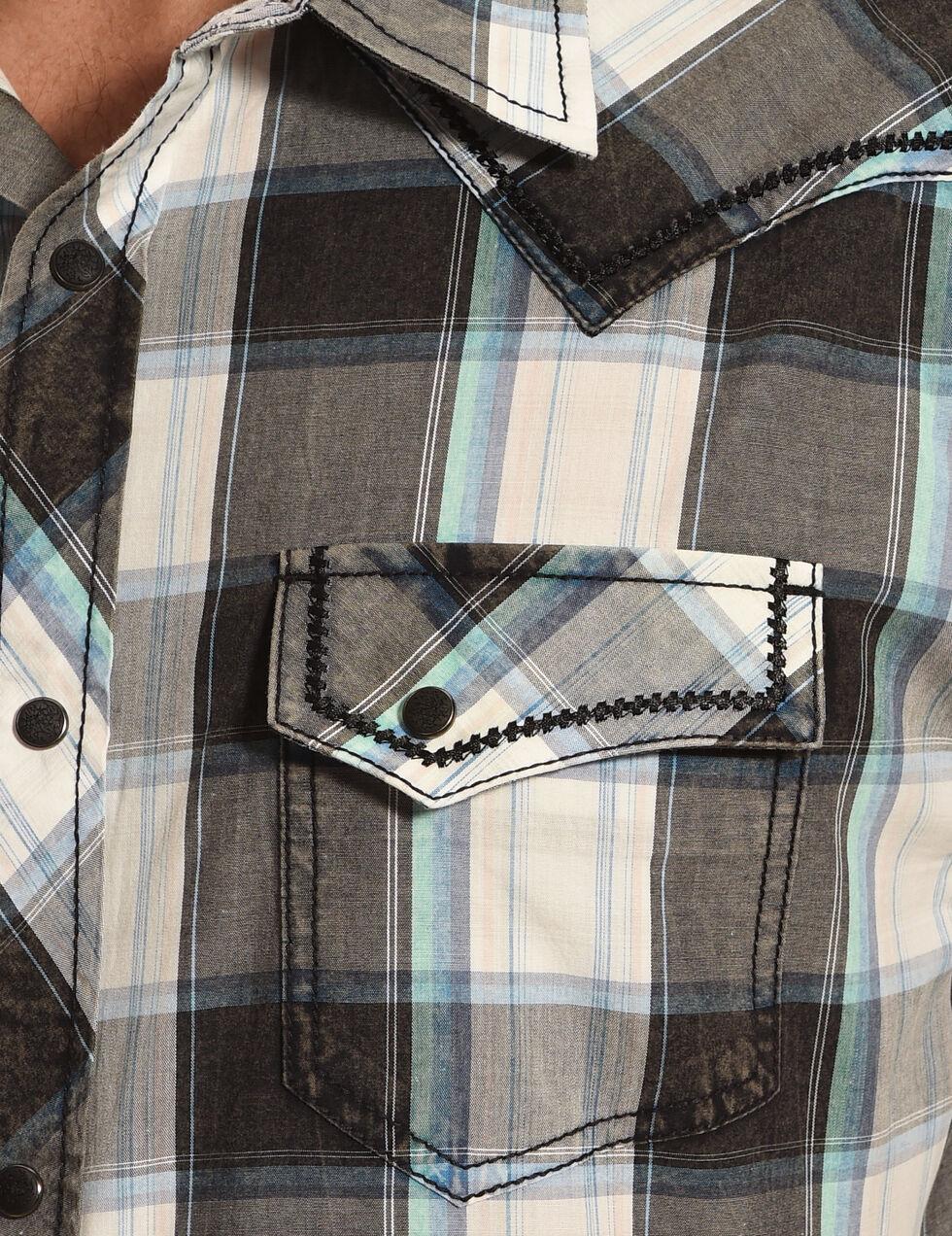 Moonshine Spirit Men's Black Plaid Short Sleeve Western Shirt, Multi, hi-res