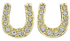Montana Silversmiths Rhinestone Horseshoe Earrings, Silver, hi-res