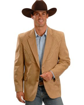 Circle S Galveston Sport Coat - Reg, Tall, Tan, hi-res
