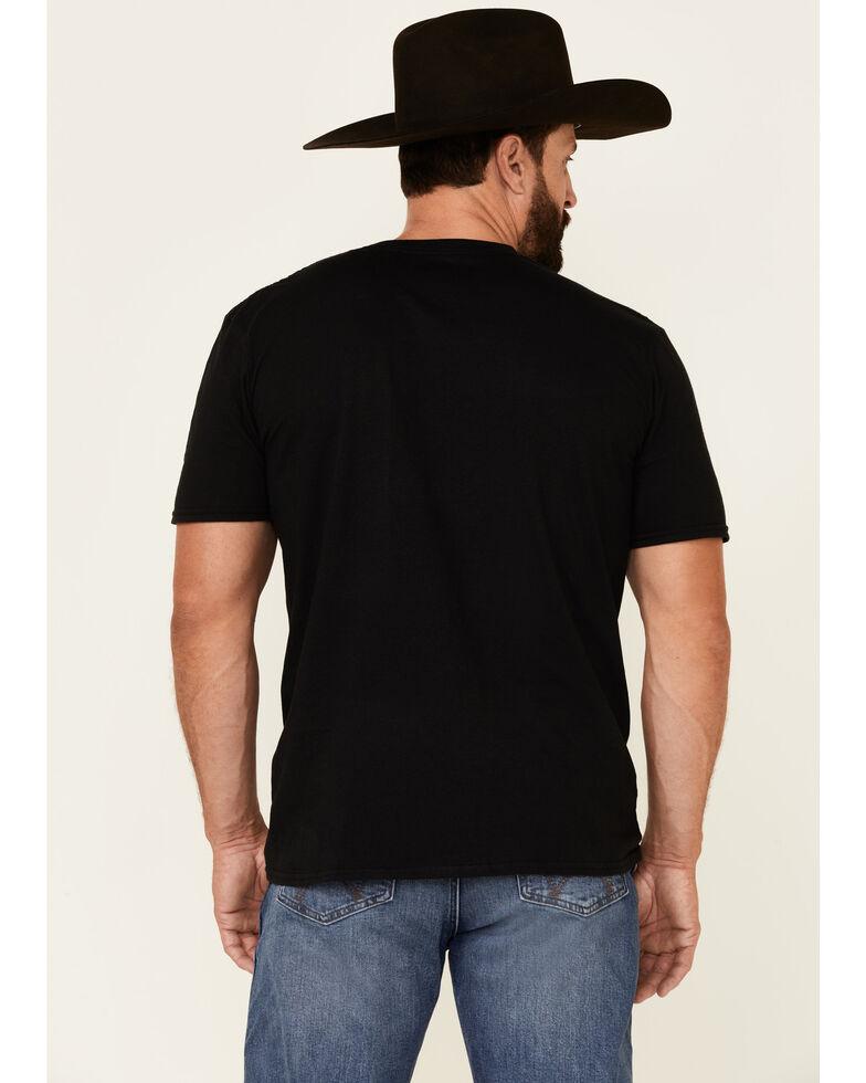 Moonshine Spirit Men's Black Old Soul Floral Skull Graphic Short Sleeve T-Shirt , Black, hi-res