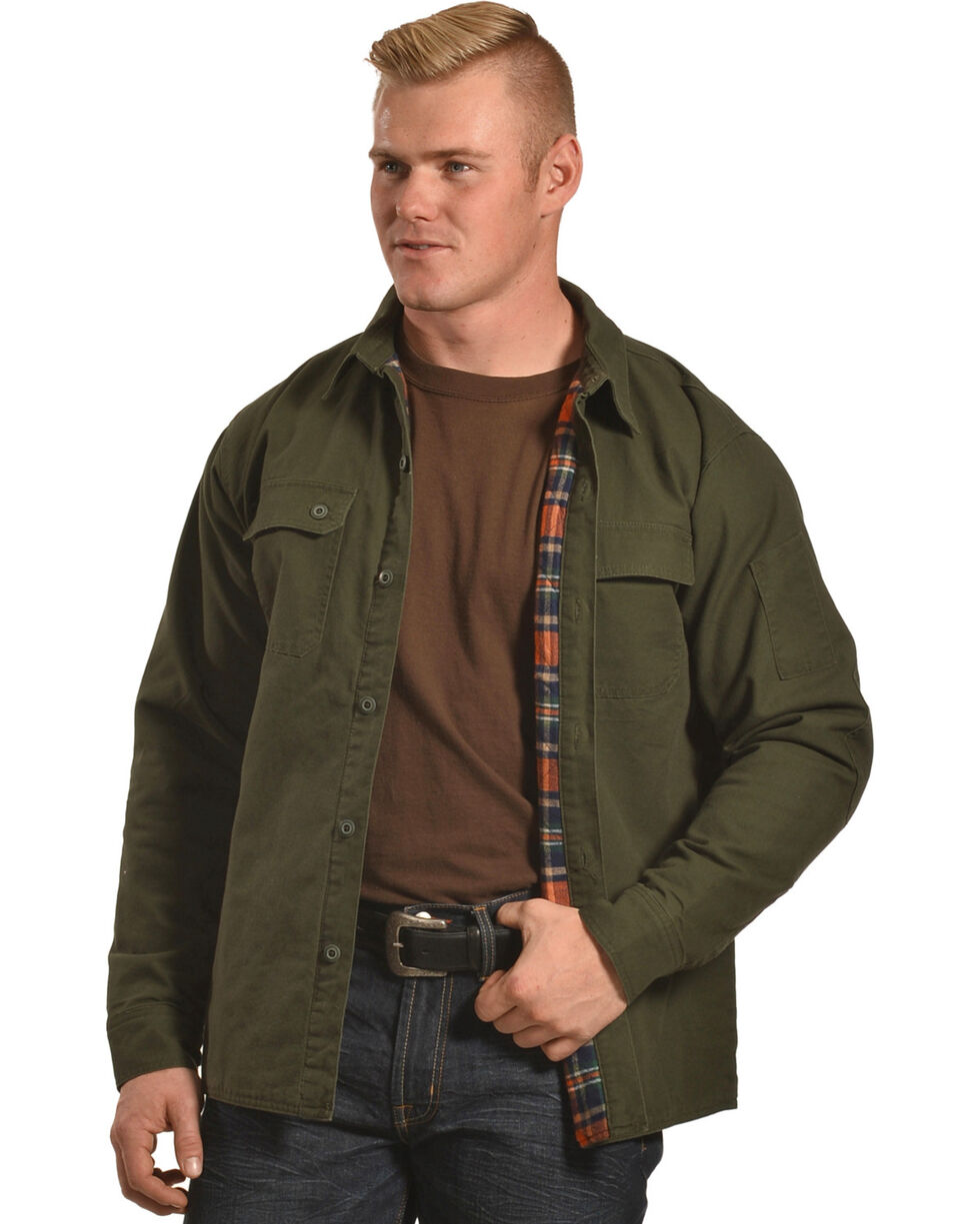 American Worker Men's Moss Diligent Canvas Shirt Jacket , Moss Green, hi-res