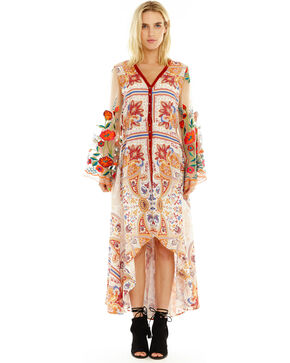 Aratta Women's Cream Surreal Dreamer Dress , Rust Copper, hi-res