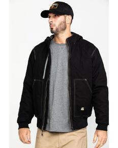 Berne Men's Torque Ripstop Hooded Work Jacket - Tall , Black, hi-res