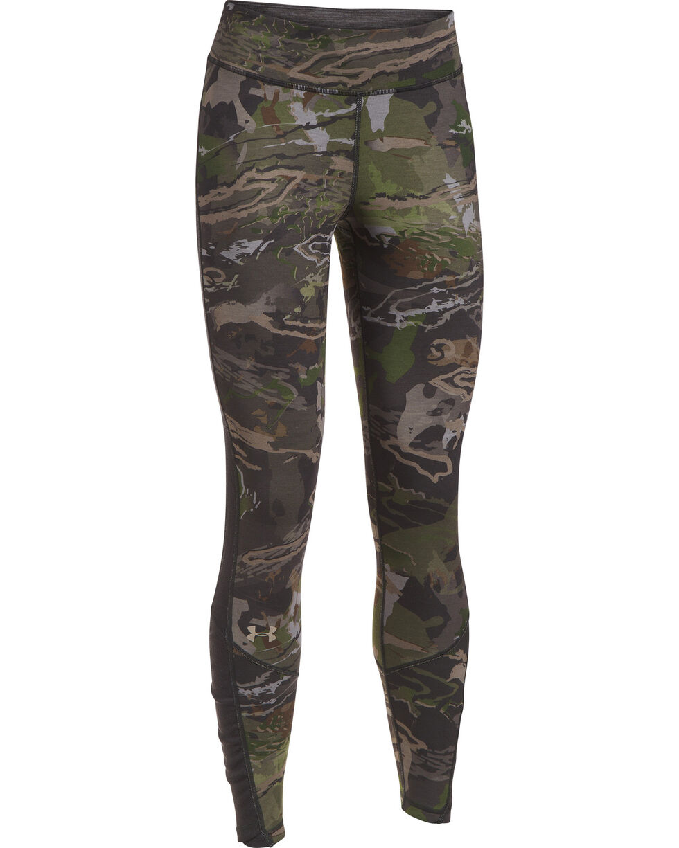 Under Armour Women's Camo Merino Wool Base Leggings , Camouflage, hi-res