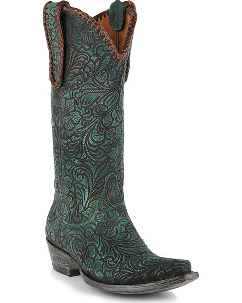 """Old Gringo Women's Cassidy 13"""" Western Fashion Boots, Turquoise, hi-res"""