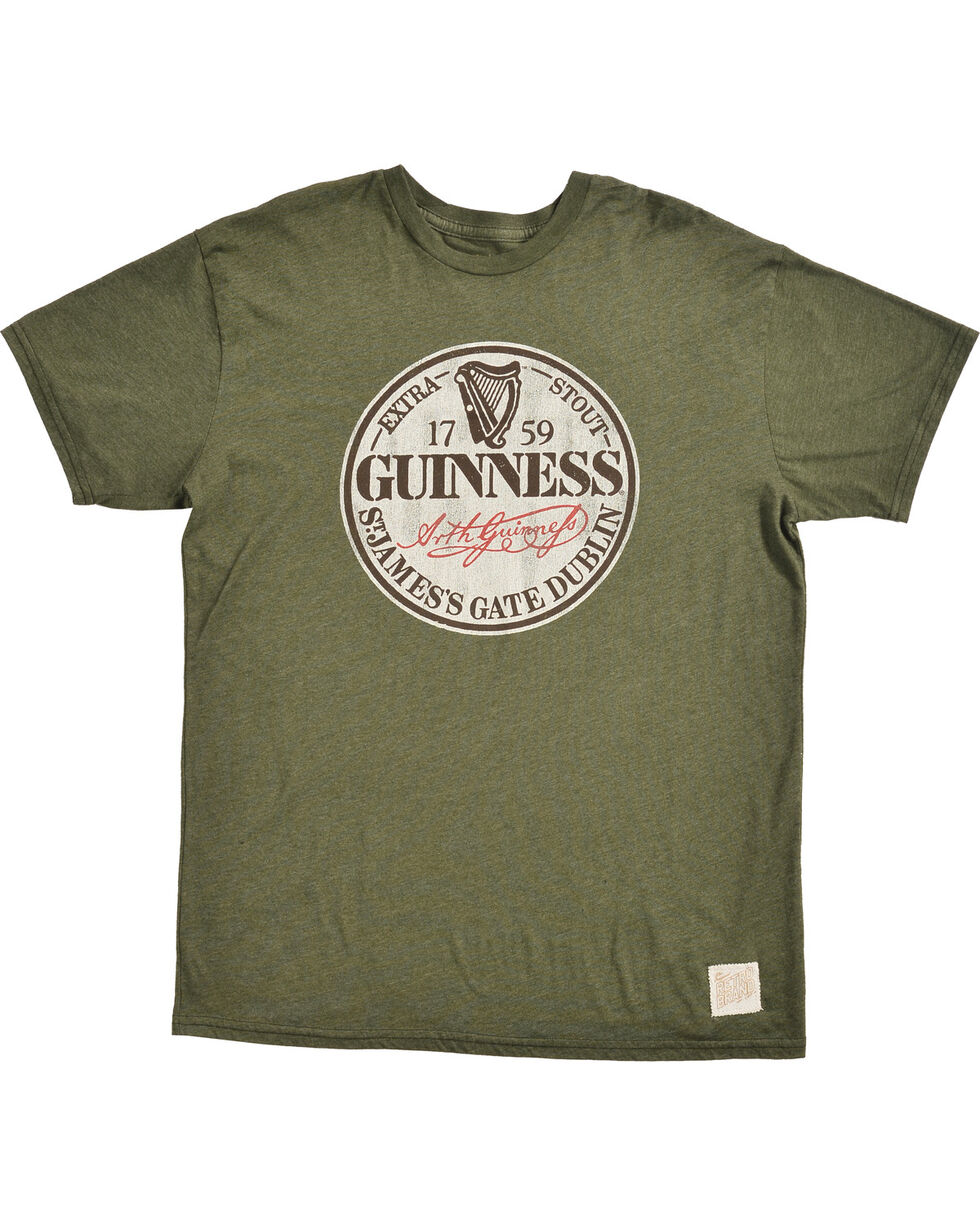 Original Retro Brand Men's Guinness Circle Tee, Green, hi-res