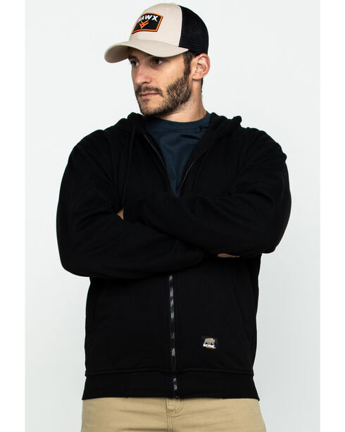 Berne Original Hooded Sweatshirt, Black, hi-res