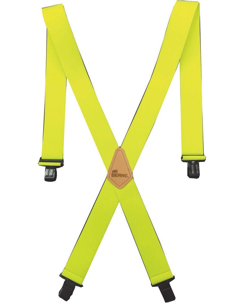 """Berne Men's 2"""" Industrial Suspenders , Green, hi-res"""