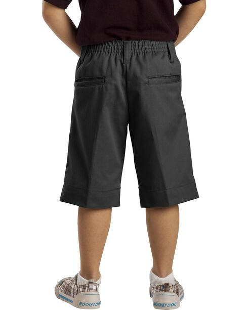 Dickies Junior Girls' Stretch Bermuda Shorts, Black, hi-res