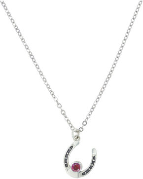 Sterling Lane Women's January Birthstone Necklace , Silver, hi-res