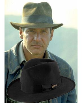 Indiana Jones Fur Felt Fedora Hat, Black, hi-res
