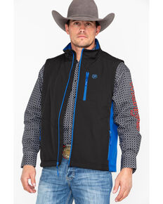 Wrangler Men's Water Repellent Trail Vest, Black, hi-res