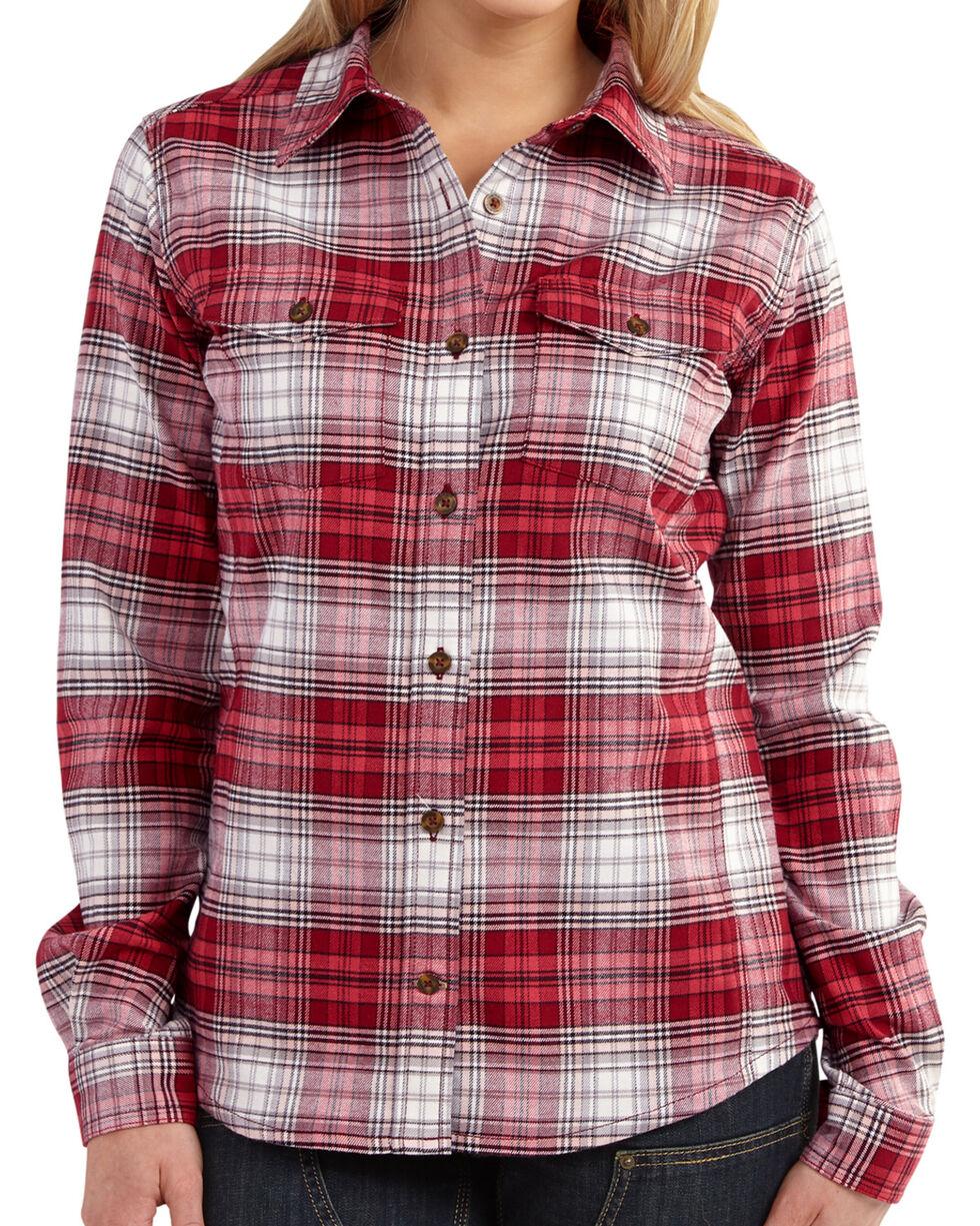 Carhartt Women's Hamilton Flannel Shirt, Rose, hi-res