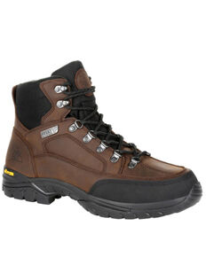 Rocky Men's Deerstalker Sport Waterproof Outdoor Boots - Soft Toe, Brown, hi-res