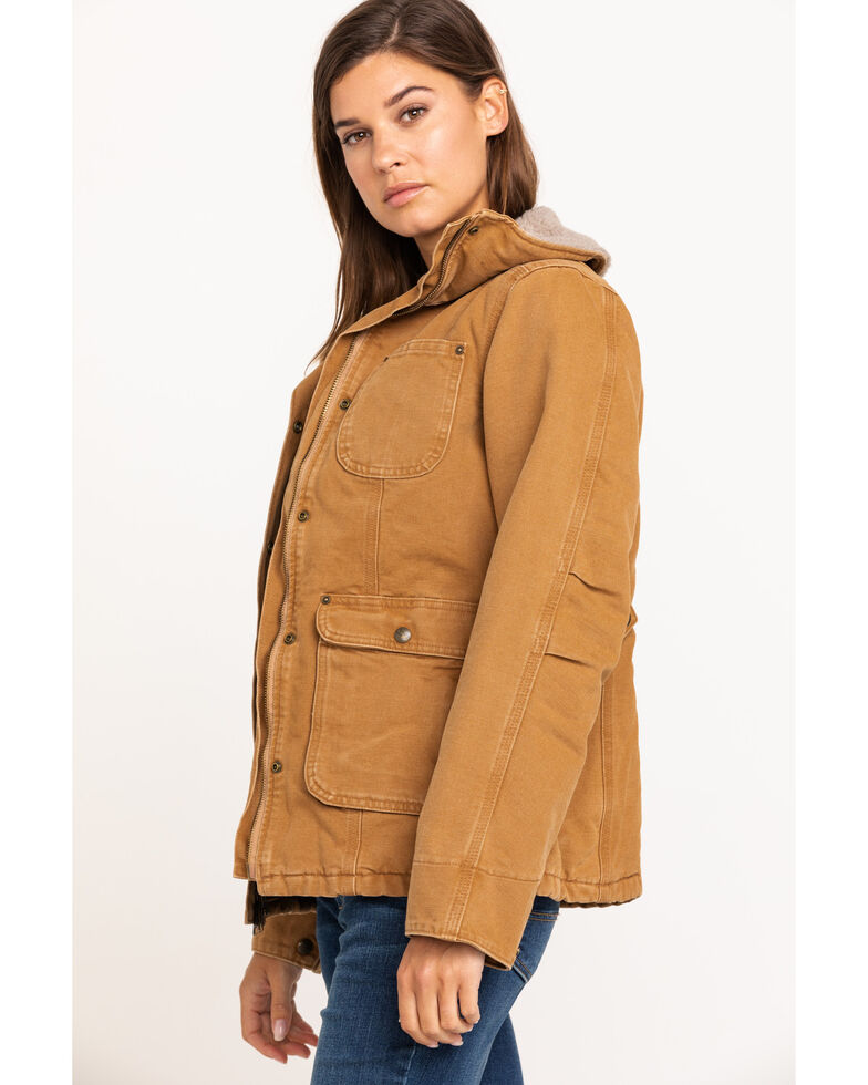 Carhartt Women's Weathered Duck Wesley Coat, Carhartt Brown, hi-res